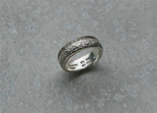 Eisschlagring in Silber Platin und Palladium