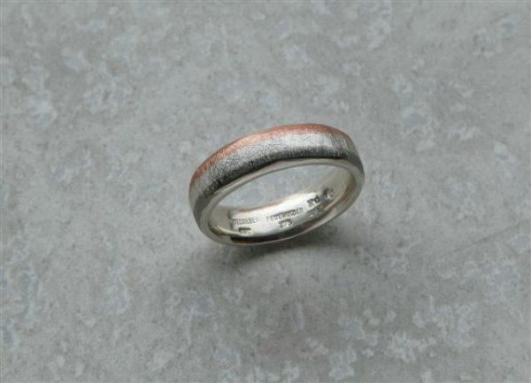 Eismattring mehrfarbig in Silber Rotgold und Palladium